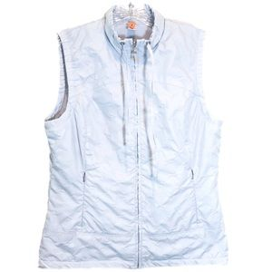 Lucy Size Medium Light Blue Quilted Vest EUC